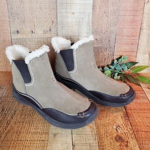 Lands' End Sueded Cold Weather Booties, Sz 8